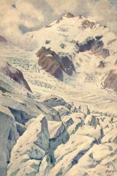 The Upper Engadine Painted and Described - Piz Bernina and the Morteratsch Glacier (1907)