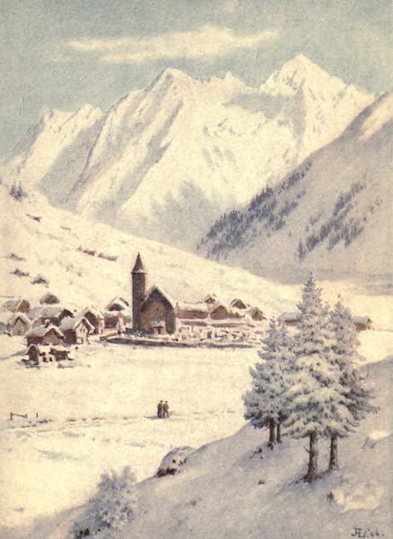 The Upper Engadine Painted and Described - Klosters with Kanarthorn and Weisshorn (1907)