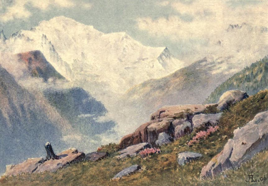 The Upper Engadine Painted and Described - Mont Blanc from above Finhaut (1907)