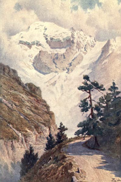 The Upper Engadine Painted and Described - The Ortler from the Stelvio Road (1907)