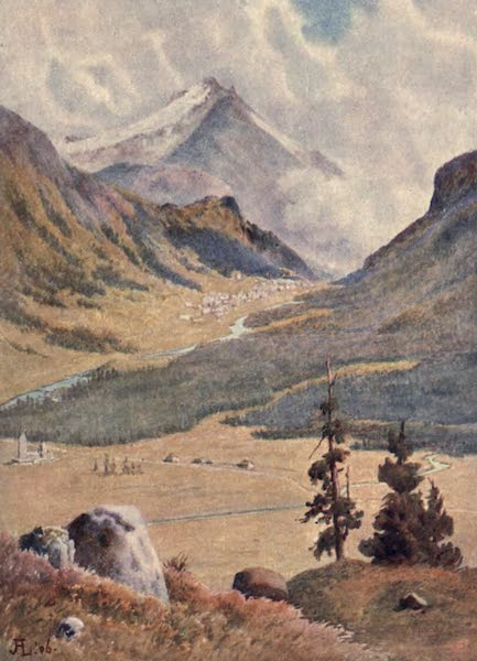 The Upper Engadine Painted and Described - Pontresina from above Celerina (1907)
