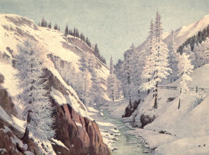 The Upper Engadine Painted and Described - The Gorge of the Inn, known as the Charnadura Gorge (1907)