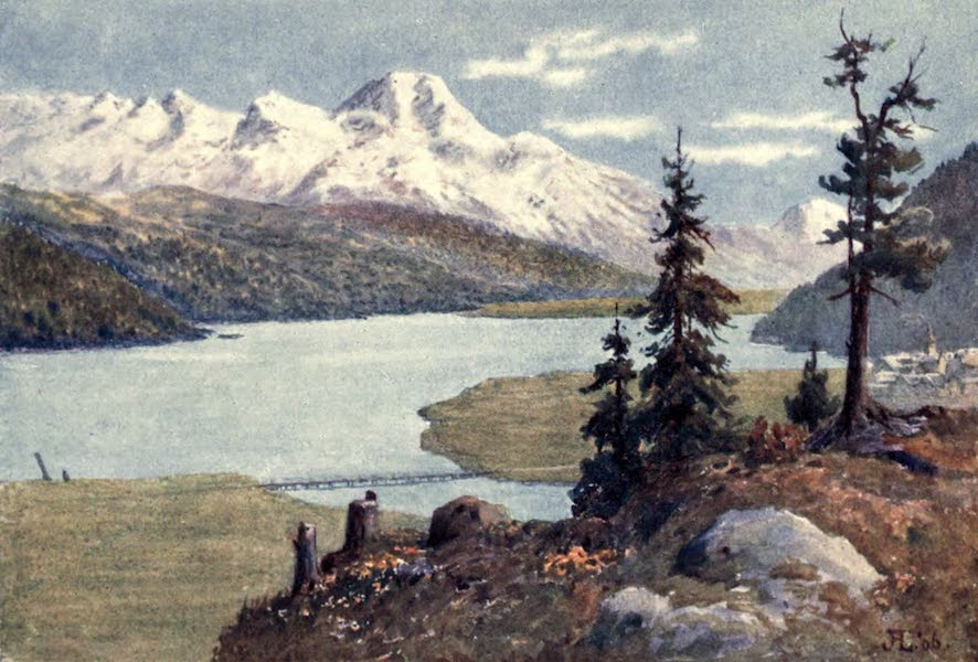 The Upper Engadine Painted and Described - Piz della Margna from Crestalta (1907)