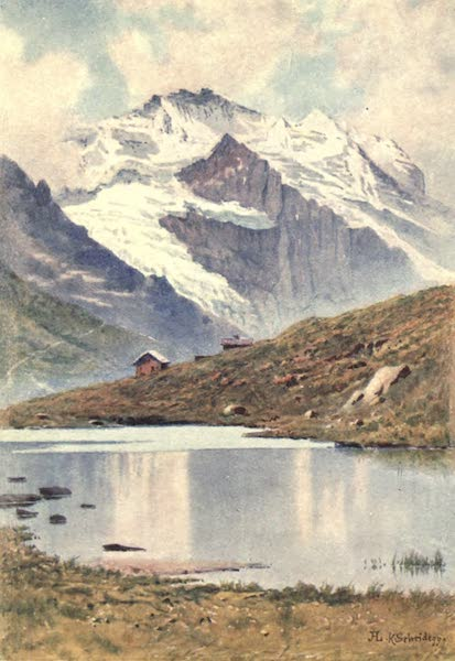 The Upper Engadine Painted and Described - The Jungfrau from the Kleiner Scheidegg (1907)