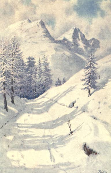 The Upper Engadine Painted and Described - Piz Albana and Piz Julier in Winter (1907)