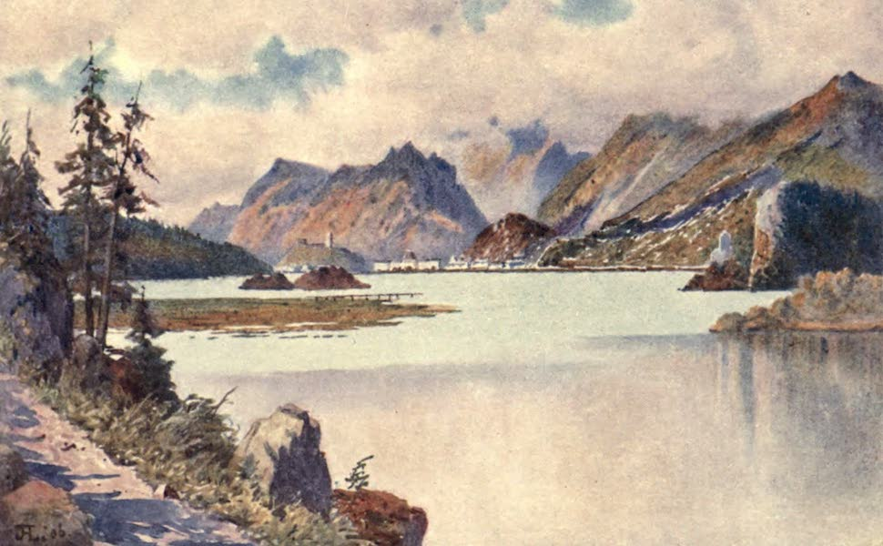 The Upper Engadine Painted and Described - Maloja from the Road to Isola (1907)