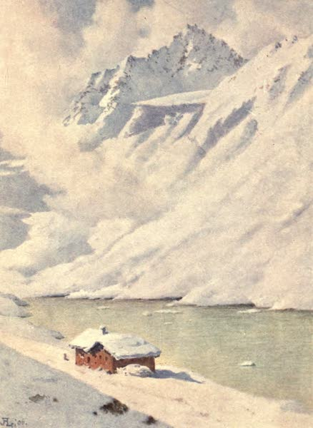 The Upper Engadine Painted and Described - The Schwartzhorn from the Fluela Hospice (1907)