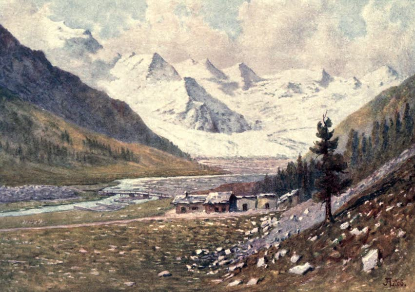 The Upper Engadine Painted and Described - The Rosegg Glacier (1907)