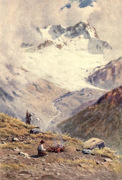 The Upper Engadine Painted and Described - Piz Kesch from the Sertig Pass (1907)