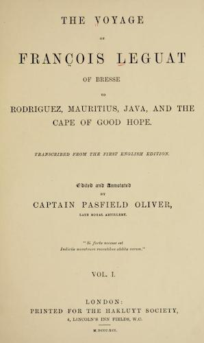 The Voyage of Francois Leguat of Bresse Vol. 1 (1891)