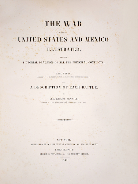 The War between the United States and Mexico - Title Page (1851)