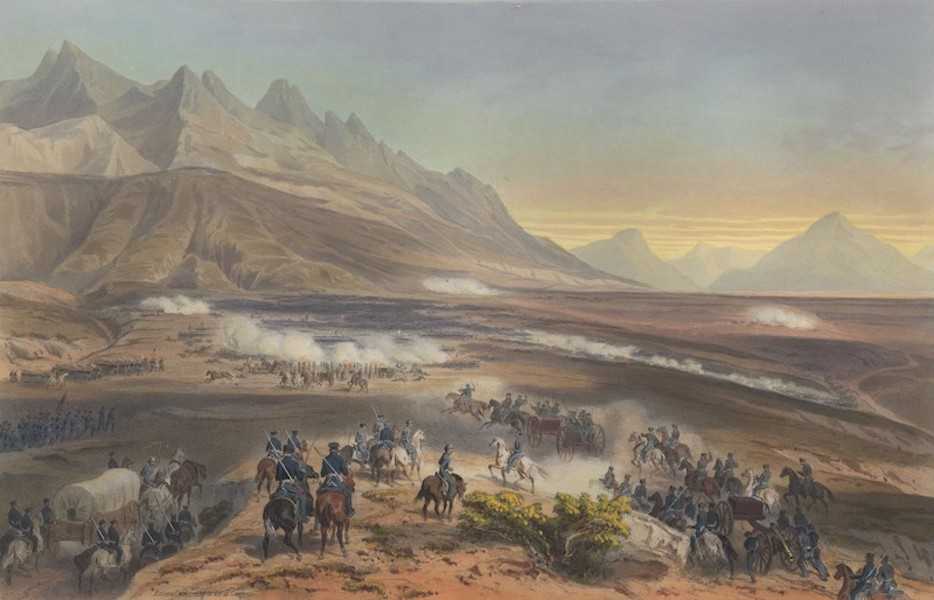 The War between the United States and Mexico - Battle of Buena Vista (1851)
