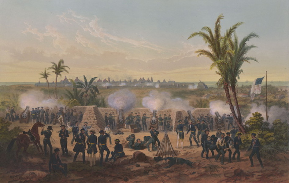 The War between the United States and Mexico - Bombardment of Vera Cruz (1851)