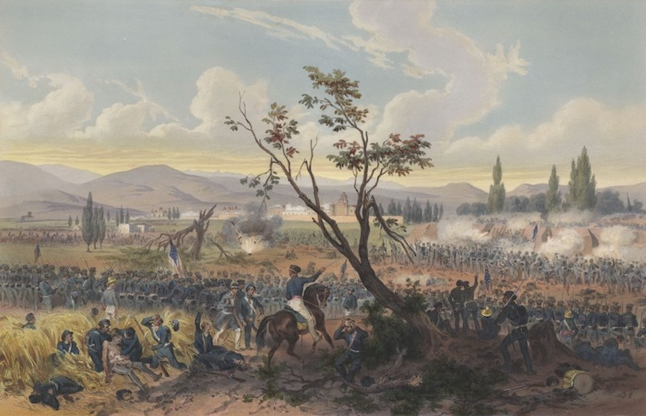 The War between the United States and Mexico - Battle of Churubusco (1851)