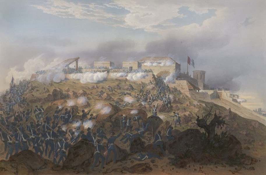 The War between the United States and Mexico - Storming of Chapultepec - Pillow's Attack (1851)