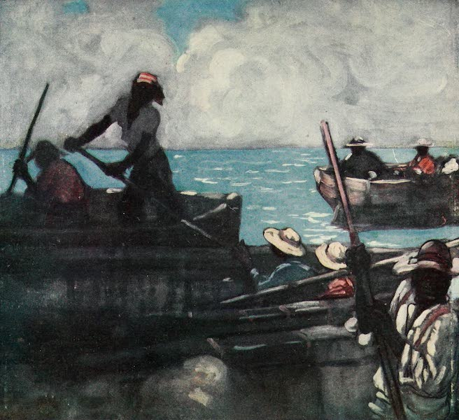 The West Indies, Painted and Described - Lightermen, off Barbadoes (1905)