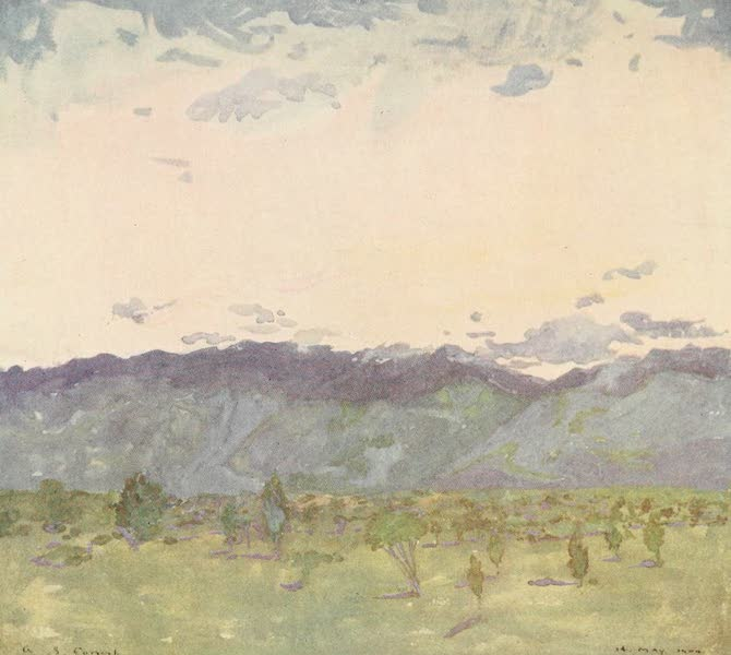 The West Indies, Painted and Described - Sunrise over the Hills, Jamaica (1905)