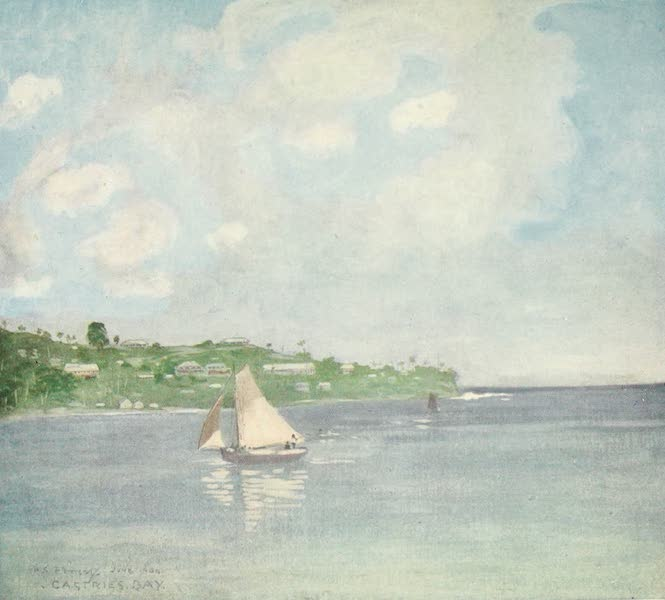 The West Indies, Painted and Described - Castries Bay, St. Lucia (1905)