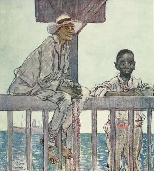 The West Indies, Painted and Described - Diving Boys, Kingston (1905)