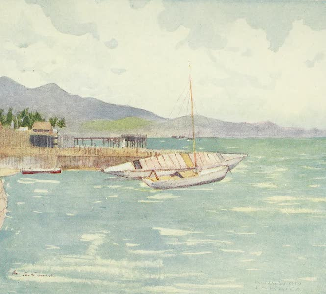 The West Indies, Painted and Described - The Turtle Wharf, Kingston, Jamaica (1905)
