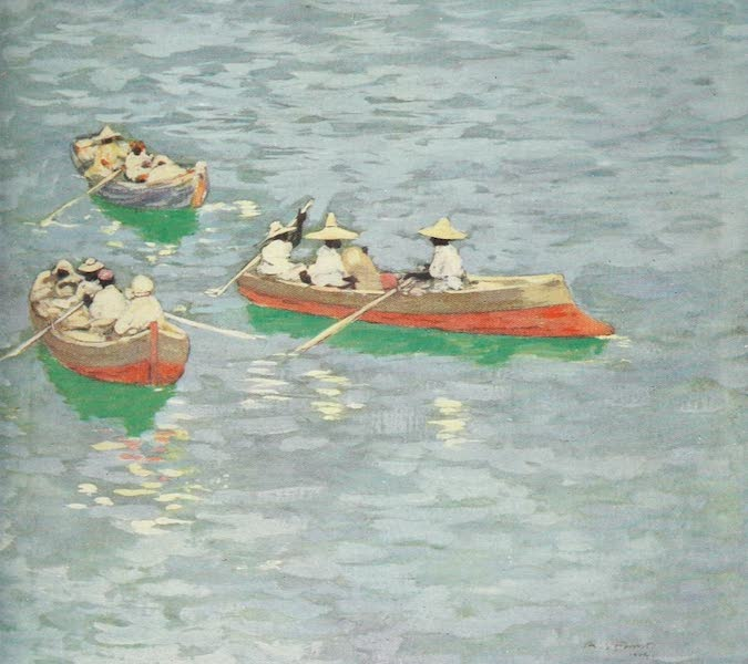 The West Indies, Painted and Described - Boats off Dominica (1905)