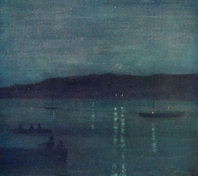 The West Indies, Painted and Described - Night, Anotta Bay, Jamaica (1905)