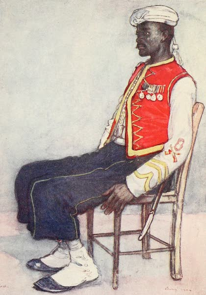 The West Indies, Painted and Described - A Soldier of the West Indian Regiment (1905)