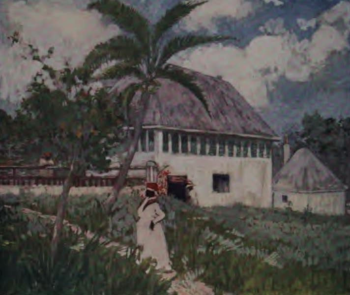 The West Indies, Painted and Described - A House near the Bog Walk, Jamaica (1905)