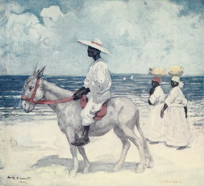 The West Indies, Painted and Described - On the Beach, Barbadoes (1905)