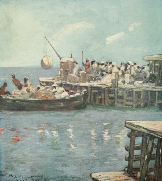 The West Indies, Painted and Described - A Quay, St. Ann's Bay, Jamaica (1905)