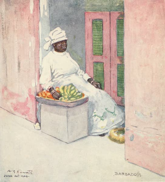 The West Indies, Painted and Described - A Fruit-seller, Barbadoes (1905)