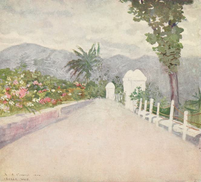 The West Indies, Painted and Described - A Terrace Garden on the Hills, Jamaica (1905)