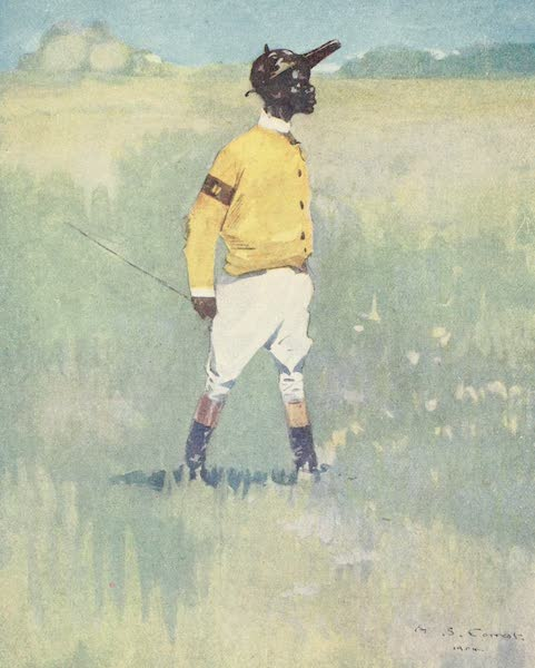 The West Indies, Painted and Described - A Jockey at Cumberland Pen, Jamaica (1905)