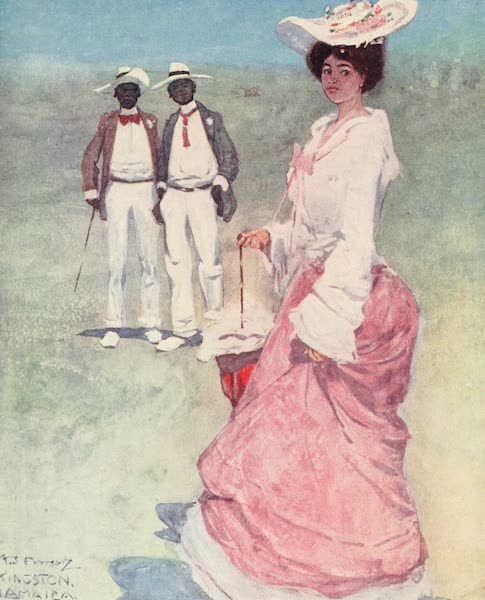 The West Indies, Painted and Described - A Coloured Lady on a Race-course, Jamaica (1905)