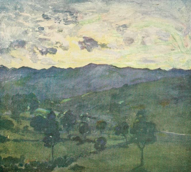 The West Indies, Painted and Described - Sunset over the Hills (1905)