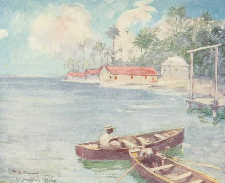 The West Indies, Painted and Described - Huts, St. Ann's Bay, Jamaica (1905)