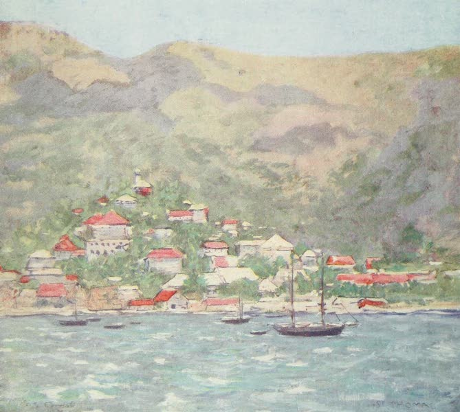 The West Indies, Painted and Described - The Capital of St. Thomas (1905)