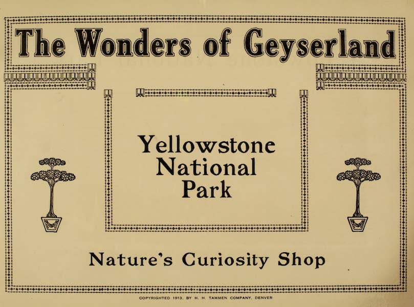 The Wonders of Geyserland - Title Page (1913)