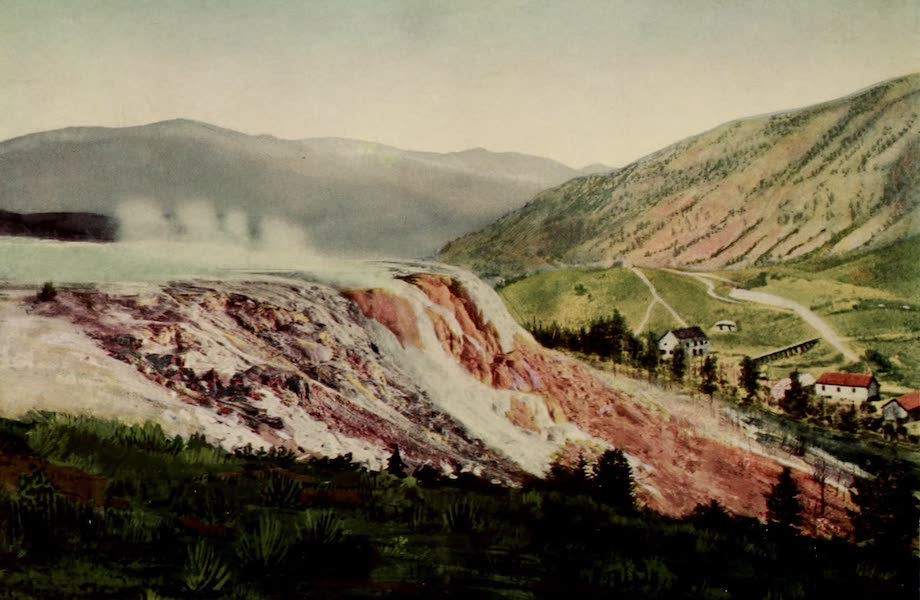 The Wonders of Geyserland - Jupiter Terrace, Mammoth Hot Springs, Yellowstone Park (1913)