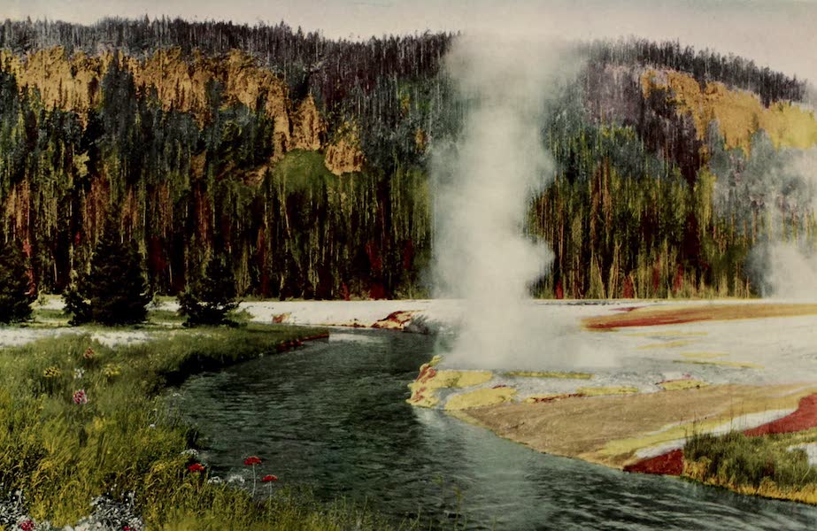 The Wonders of Geyserland - Cliff Geyser and Firehole River, Yellowstone Park (1913)