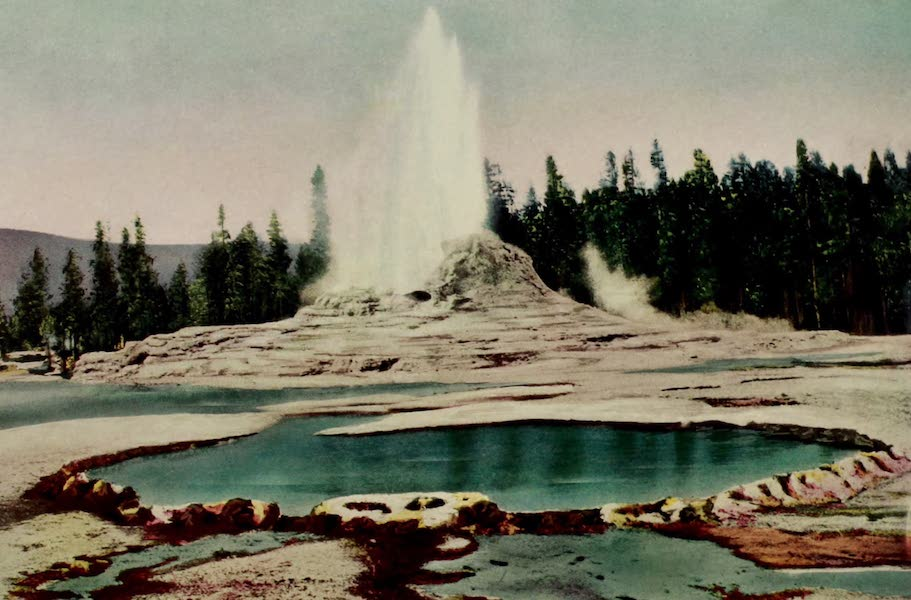 The Wonders of Geyserland - Castle Well and Geyser, Upper Geyser Basin, Yellowstone Park (1913)