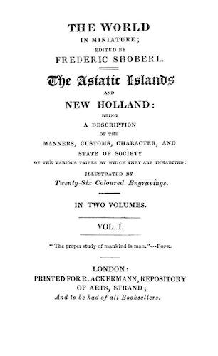 Maldives - The World in Miniature: Asiatic Islands & New Holland Vol. 1
