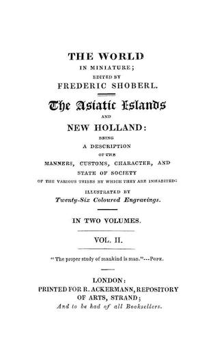 Maldives - The World in Miniature: Asiatic Islands & New Holland Vol. 2