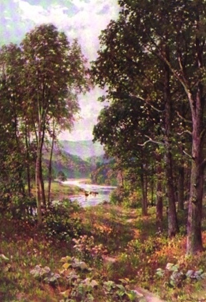 The Wye Painted and Described - River-side Path above Monmouth (1910)