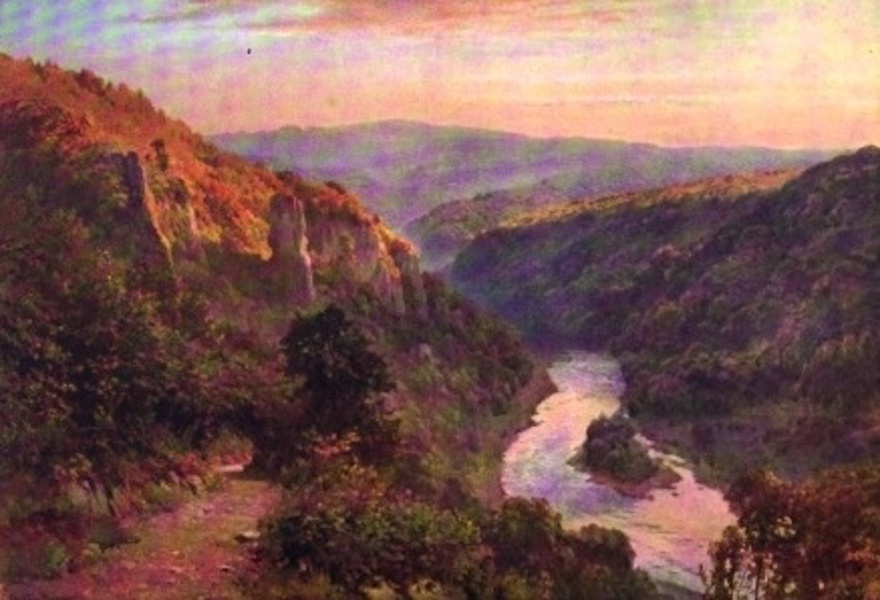 The Wye Painted and Described - Symond's Yat - the Last Glow (1910)