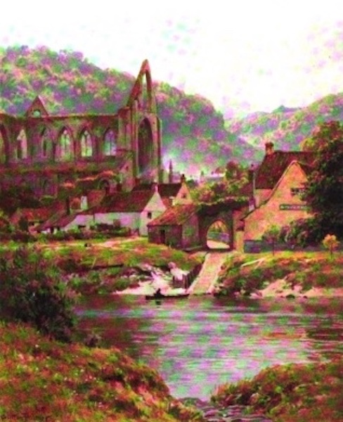 The Wye Painted and Described - The Ferry, Tintern Abbey (1910)