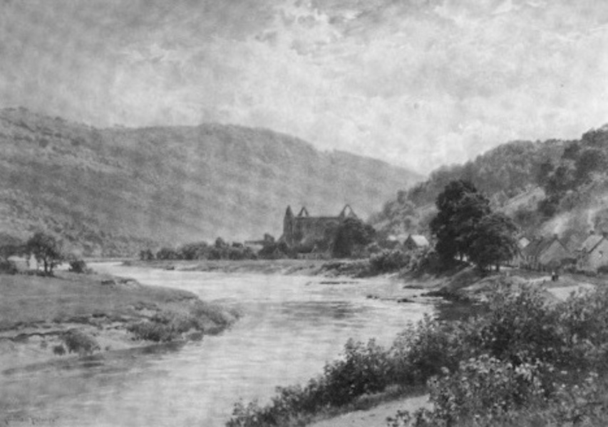 The Wye Painted and Described - Tintern Abbey and Village (1910)