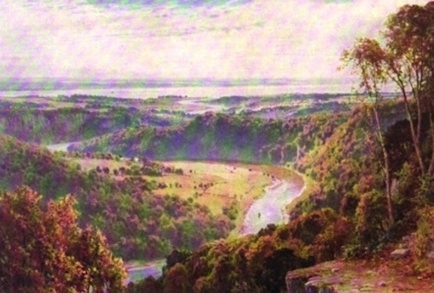 The Wye Painted and Described - From the Wyndcliff - the Junction of Wye and Severn (1910)