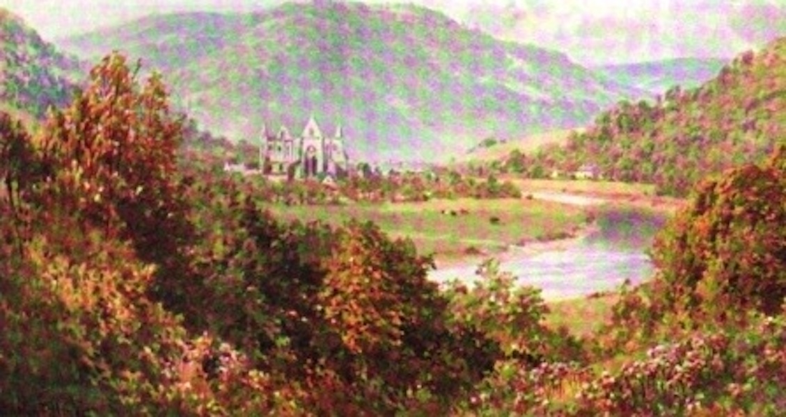 The Wye Painted and Described - Distant View of Tintern Abbey (1910)