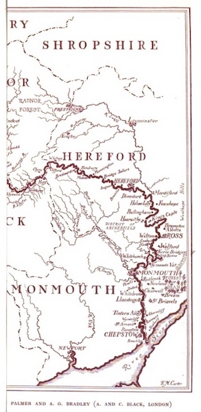 The Wye Painted and Described - Sketch Map of the River Wye (1910)